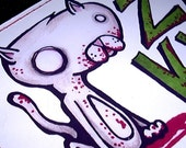 Zombie Kittie Vinyl Wallet from the UnDead Agorables Clothing Kitty