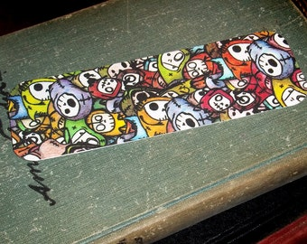 Bookmark of Stacked Stuffed Packed Monsters by Agorables Clothing The King Of Cute Horror Goodness
