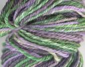 Hand Dyed, Handspun Self-striping Yarn -- Gallo -- Falkland, 150 yards