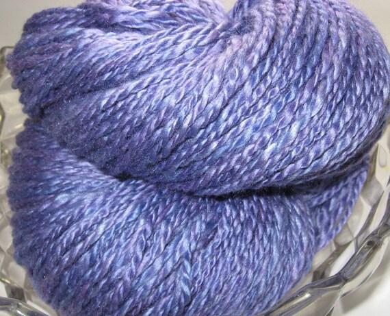 Hand Dyed, Handspun Yarn -- Popsicle  -- Silk, Merino, 270 yards