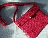 Sweet Red Crocheted Lined Small Handbag