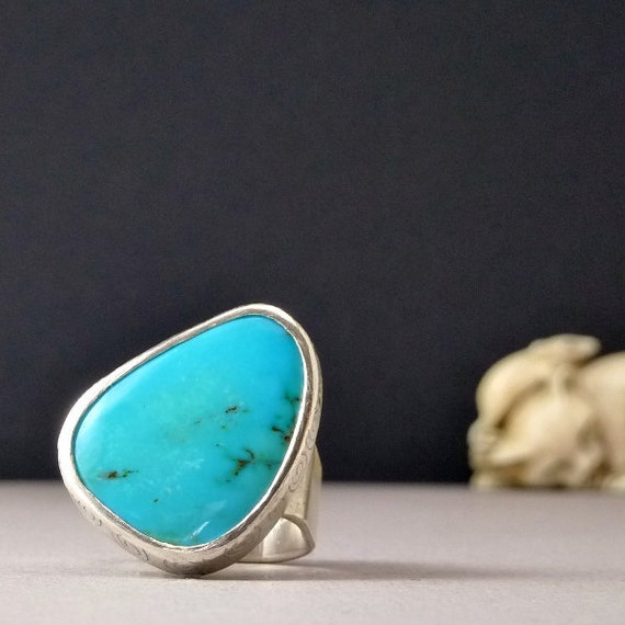 Turquoise Ring  Turquoise Jewelry Silver Turquoise Ring