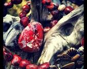 Butterfly Mountain Fairy Grrrrl        Brecciated Red Jasper  necklace