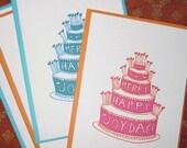 merry happy joyday cake card