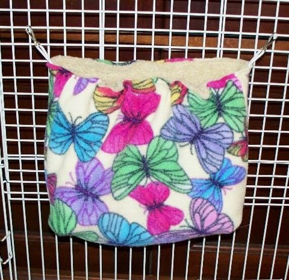 Ferret cage side hanging pouch