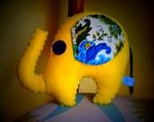 Yellow Felt Elephant