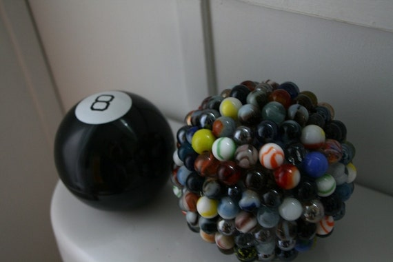 Upcycled Marble  Magic 8 ball