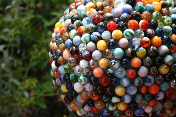 Reclaimed Marble Garden Ball