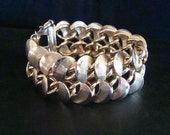 CHUNKY LINK VINTAGE Bracelet, Gold Plate, Safety Chain, Lovely Condition