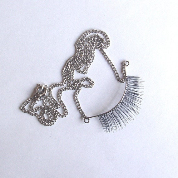 Sterling Silver Eyelash Necklace