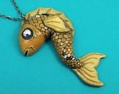 Tattoo Inspired Koi Fish Necklace