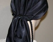 Black Peach Skin Snood Head Covering