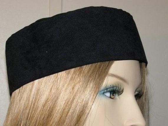 Head Covering Headcovering Hat Jewish Modest Yarmulke Kippa - BLACK SUEDE BUCHARI Kippah
