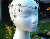 Ivy Leaf Elven Tiara Headdress, Fairytale Wedding Crown, Elvish Headpiece, Cosplay, Tribal Belly Dance Headdress