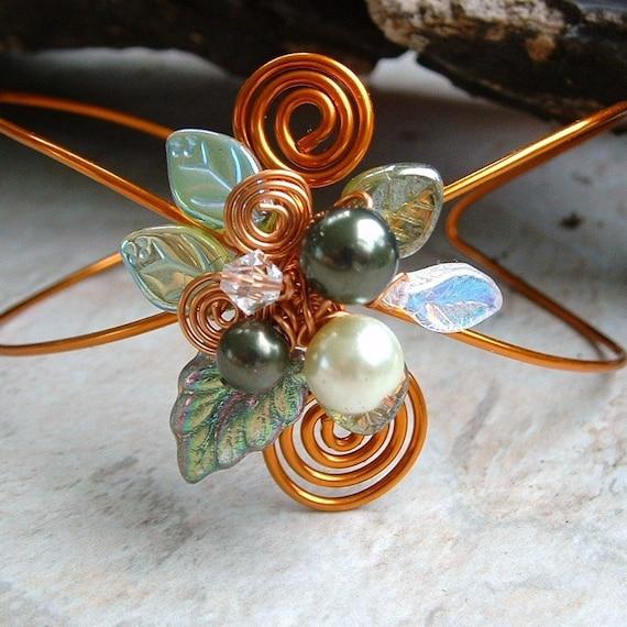 HOLIDAY SALE Lothlorien Spring Forest Bracelet Arm Cuff