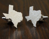 Special offer - Texas Cufflinks, Sterling Silver 925, handcrafted