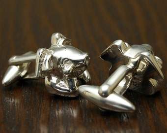 When pigs can fly Cufflinks, Sterling Silver, Handcrafted