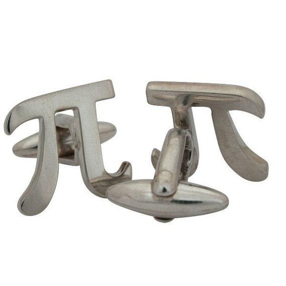 3.14 Pi Cufflinks, Sterling Silver, Handcrafted