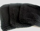 Reusable Cotton Black Make-up Remover Washcloths set of 3