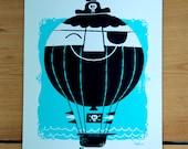 Hot ARRR Balloon - A5 Screen Print