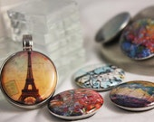 Magnetic Pendant w/ choice of 2 Interchangeable Art Design Inserts by Kristen Stein