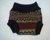 Small Native  Wool Soaker Diaper Cover