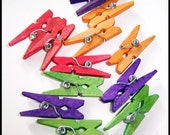 One Dozen Mini Clothespins for your Crafting Needs