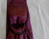 Red Black silk sling- reserved