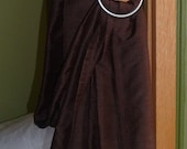 Chocolate Brown Silk Sling- reserved for LC