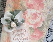 Sending Happy Thoughts Tall Greeting Card by Mom