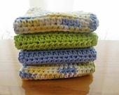 Summer Splash - Set of Four (4) Cotton Dish or Wash Cloths