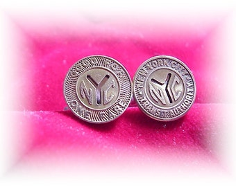 Small size New York Token cufflinks