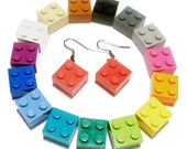 Dangle Drop Earrings - made with LEGO bricks