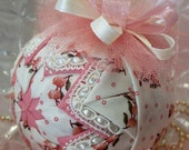 Country Chic Quilted Shabby Romantic Fabric Ornament