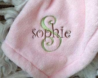 Super Soft Monogrammed Infant Blankie - CUSTOM