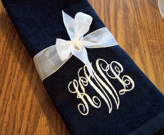 Monogram Hand Towels - set of 2 - CUSTOM
