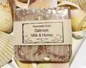 Oatmeal Milk and Honey Handmade Soap Cold Process Jumbo Bar