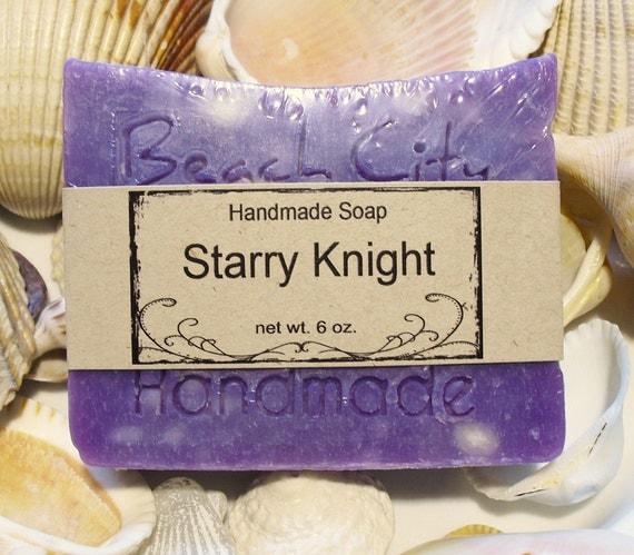 Handmade Soap Cold Process Starry Knight Jumbo Bar