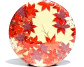 BUY 3 GET THE 4TH FREE - Falling Leaves Pocket Mirror  - Japanese chiyogami mirror and gift bag