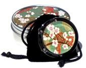 Geisha Gem Purse Hook - Rebirth - A Handcut Glass and Japanese Chiyogami Purse or Bag Hanger - Foldable. Portable. Adorable.