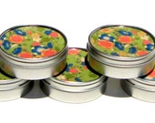 sage garden - set of 5 Japanese chiyogami party favor mint tins