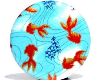 Buy 3 Get The 4th Free - Koi Pond Pocket Mirror - Japanese chiyogami mirror and gift bag