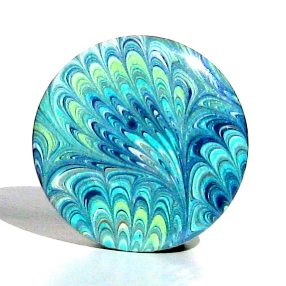 Buy 3 Get The 4th Free - Peacock Tails Pocket Mirror  - with gift bag