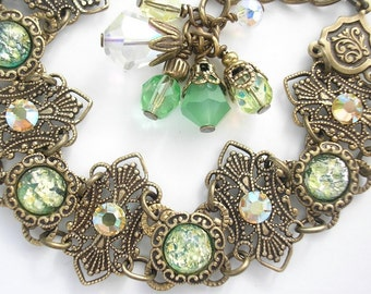 Touch of Spring Glass Opal Bracelet