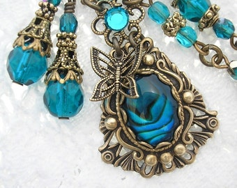 Summer Splash - Paua Shell Necklace and Earring Set
