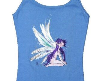 Seated lilac fairy T-shirt. Size-P