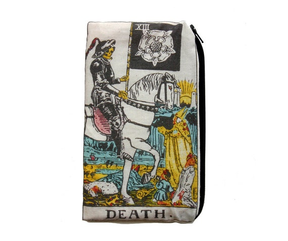 DEATH Tarot Card Makeup Bag