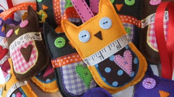 SALE - Yellow Lavender owl decoration - Last one