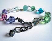 cool rainbow - oxidized sterling silver bracelet