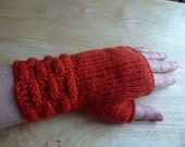 Orange Fingerless Gloves/Wristwarmers